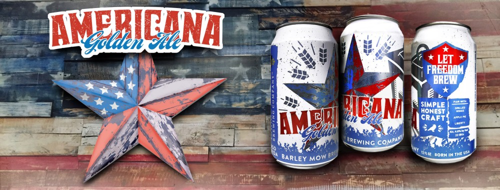 americana golden ale beer label barley mow donald ambroziak design ambrosia